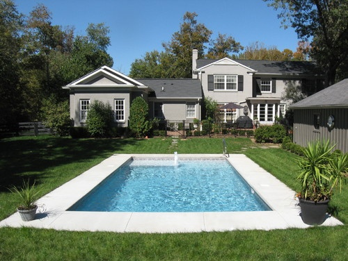 True Rectangle Vinyl Liner Pool Traditional Pool Simple And Clean Lined Square Corners Need