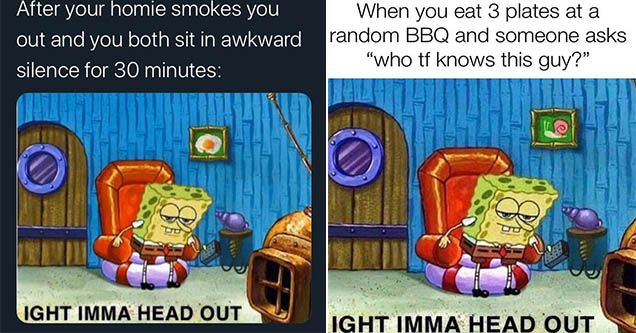 28 Best Ight Imma Head Out Spongebob Memes Spongebob Memes