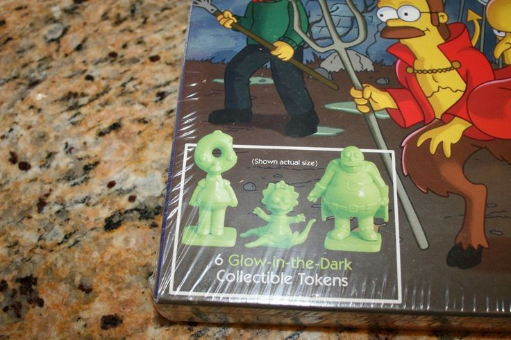 """The Simpsons Monopoly 'Treehouse of Horrors"""" with Glow in The Dark Tokens   eBay"""