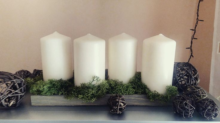 Natural Advent candles.