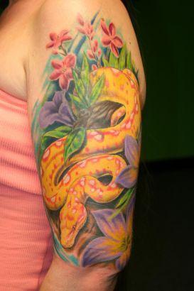 itattooz-snake-tattoo-in-yellow-color.JPG (273×410)