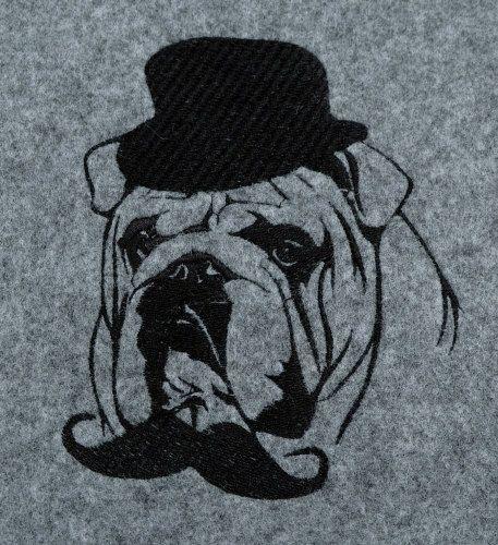 Engels Bulldog 2Vilt grijze zakschoudertas met door ArtDogshopcenter