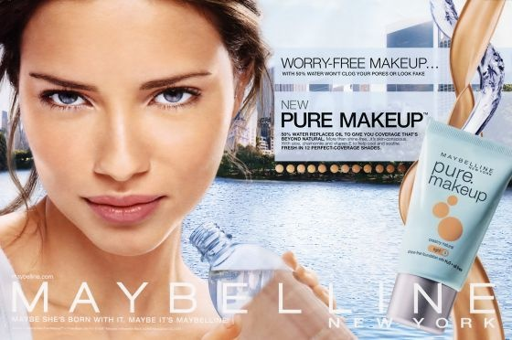 For those who just need to cover up flaws, keep it clean ... Maybelline Foundation Ad