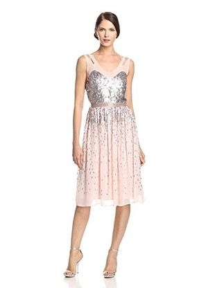 60% OFF French Connection Women's Shimmer Shower Dress (Pretty Petal/Silver)