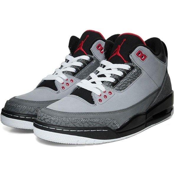 Nike Footwear Nike Air Jordan III Retro - Stealth ($170) ? liked on Polyvore