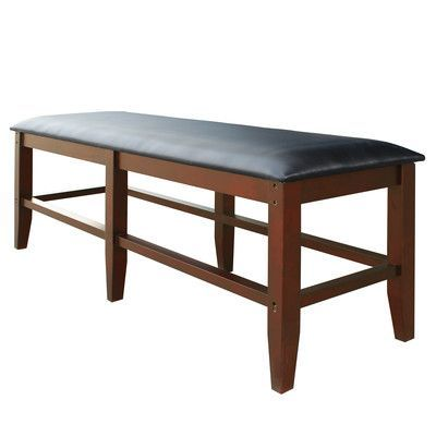 Hathaway Games Leather Storage Bench Color: