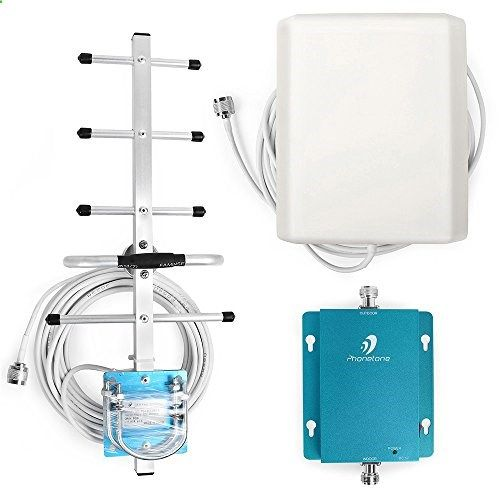 Cell Phone Antenna - Phonetone GSM 3G 850MHz Phone Signal Repeater Witn 2 Antennas  cable for AT&T Verizon topcellulardeals.... Frequency range: 824 ~ 849MHz, 869 ~ 894MHz Max Output Power: 22dBm / Max Gain: 62dB I/O Port: N-Female on both ends