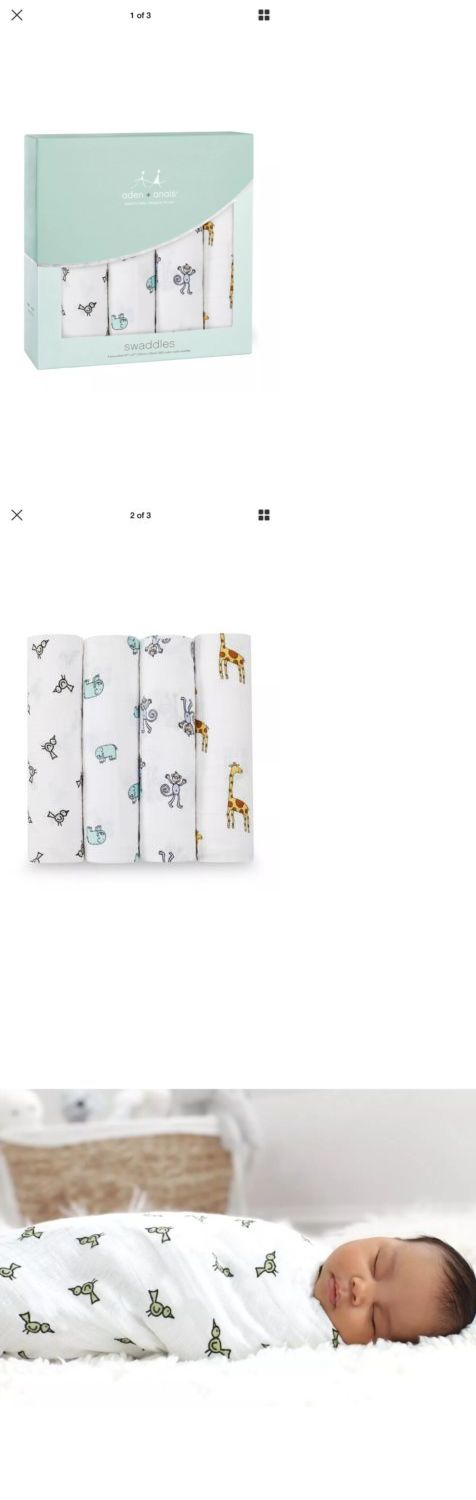 baby kid stuff: Aden And Anais Jungle Jam 4 Pack Swaddle Baby Blanket Set New -> BUY IT NOW ONLY: $31.99 on eBay!