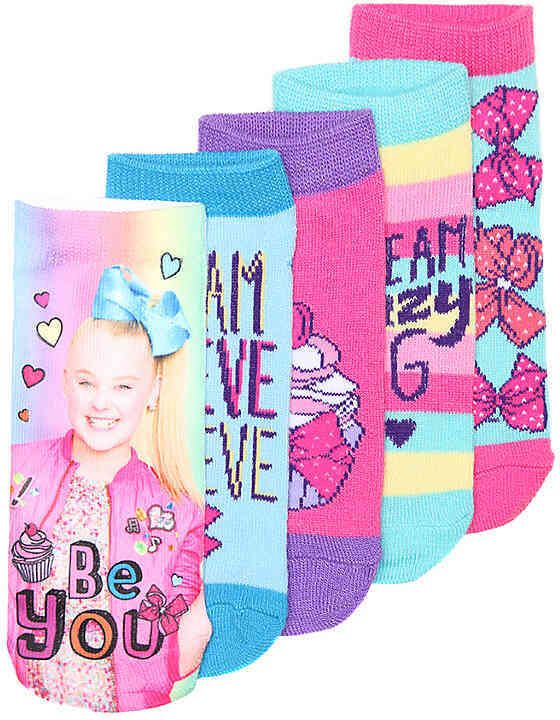Nickelodeon Girls Jojo Siwa Toddler & Youth No Show Socks - 5 Pack. #jojo #jojosiwa #socks #jojosocks #nickelodeon #girls #girlsfashion #fashion