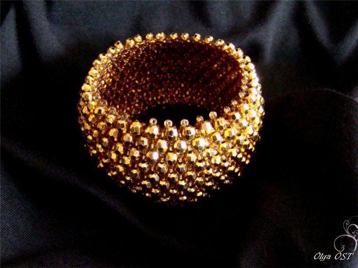 Браслетик - не простой, а золотой! | biser.info - всё о бисере и бисерном творчестве