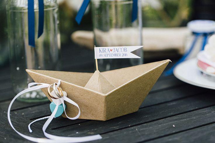 DIY des Monats August: Maritimes Ringschiff | Hochzeitsblog The Little Wedding…