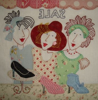 Block 4 - Shoe Sale Stitchery by Fiona Marie Clark, via Flickr