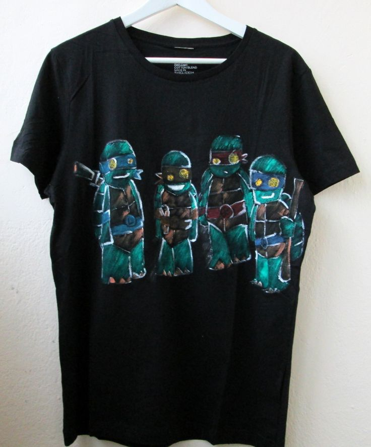 Ninja Turtles painted on t-shirt