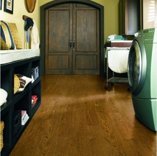 Luxury Vinyl Tile COREtec Plus - Northwoods Oak 8mm x 5 x 48 20 mil Surface Layer Textured- with Attached Cork Underlayment