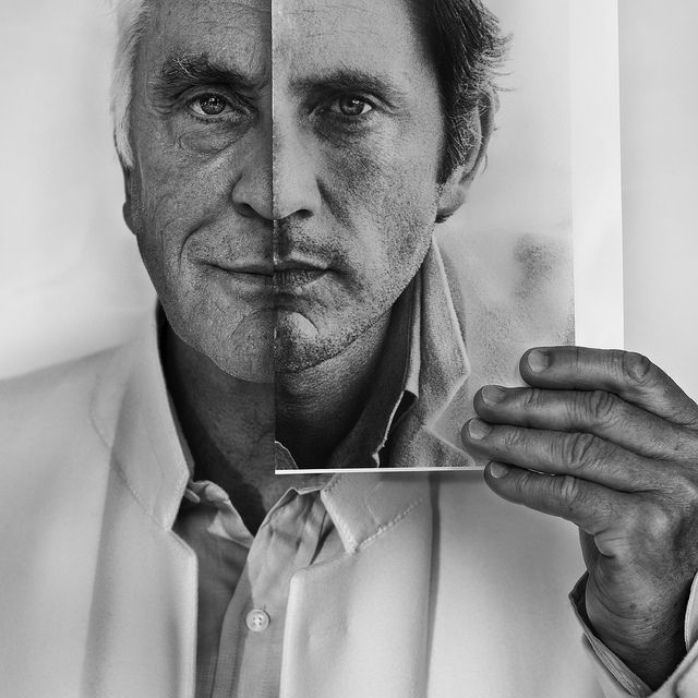 Terence Stamp (now and then) by Betina La Plante