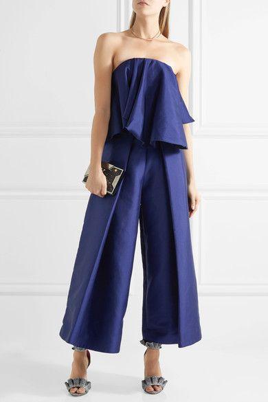 Solace London | Laurel strapless charmeuse top | NET-A-PORTER.COM