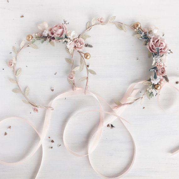 Blush flower crown, Mommy and me, Blush gold flower crown, Birthday crown, Blush child flower crown, Child crown, Maternity