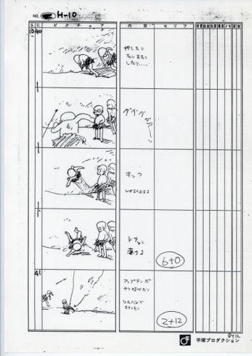 ザ・チョコレートパニック・ピクチャーショー 絵コンテ (The Chocolate Panic Picture Show) OVA 絵コンテ 状態:B4サイズ。オレ、破れ、ヤケあり。 #storyboard #Japanese #1985 #OVA #anime #Japan