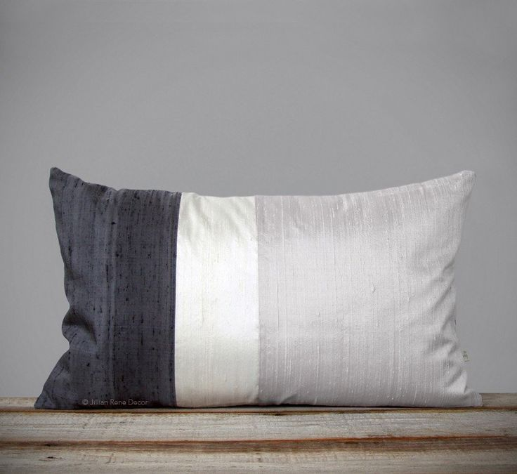 Silk Colorblock Pillow by #JillianReneDecor #monochromatic  #decor #pillows