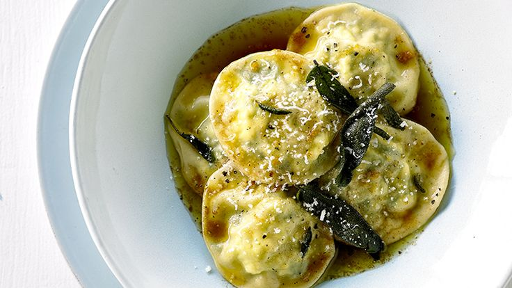 Julie Goodwin's Ravioli with Burnt Butter and Sage