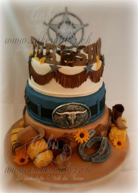 Western / Country Cake  Western Torte Cowboy Cake