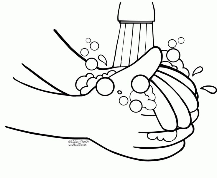 Free printable coloring page to teach kids about hygiene Germs Are - copy printable hand washing coloring sheets