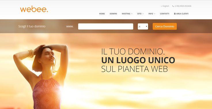 Webee: dominio, posta, sito e courtesy page