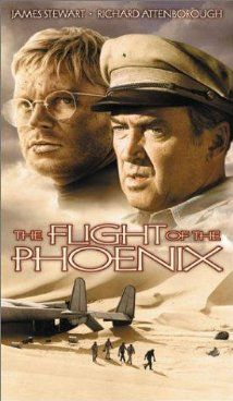 The Flight of the Phoenix (1965). All star cast and a great adventure flick. Jimmy Stewart leads the way.