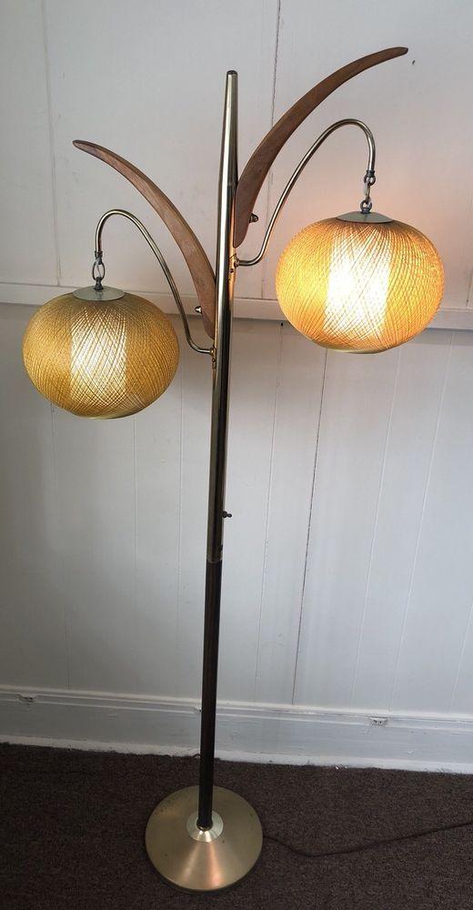 Mid Century Modern Orange Orb Floor Lamp Chicago Lampcraft Industries Near Mint Midcenturymodern Sonneman I Wish This Was In My Area