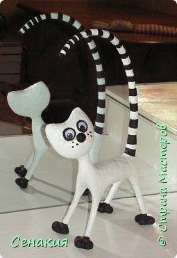 Мастер-класс Папье-маше Интерьерный кот МК Бумага Клей Краска фото 1