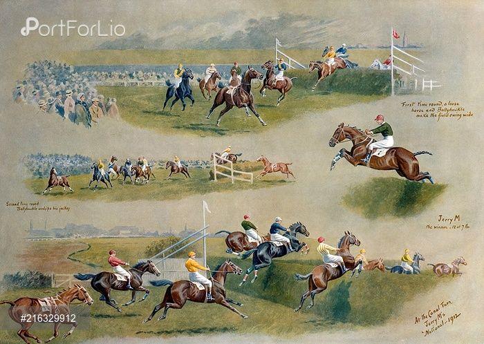 PortForLio - The Grand National, 1912 – horse jumping