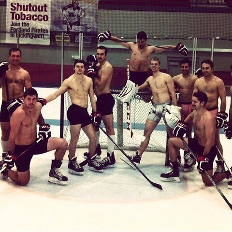 from Charles women naked hockey player