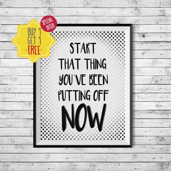 Motivational quotes, Inspirational wall art, Custom quote print, Quote prints, Start at home decor,Printable quote art,Polka dot,Black white.  Do you want a PRINTED DESIGN that is SHIPPED to you? Visit this link: https://www.etsy.com/listing/259685998/made-to-ship-poster-professional-print?ref=shop_home_active_1  This listing is for an INSTANT DOWNLOAD of 2 JPEG files of this artwork. Just purchase the listing and your print is ready to download instantly. Why n...