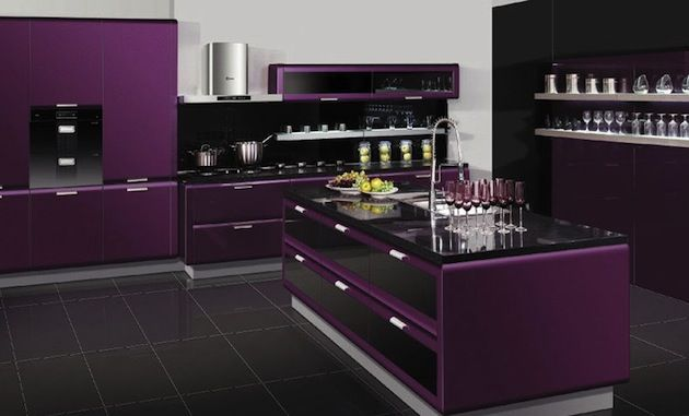purple kitchen omg i love this for the home