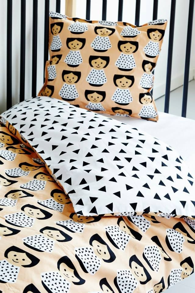 Lucie only started her business in 2012 but you can already find her things in the best design stores. Just recently she added some damn cute kids bedding..