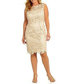 Adrianna Papell Plus Floral Lace Dress