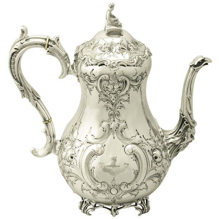 Sterling Silver Louis Coffee Pot, Antique Victorian | See more antique and modern Tea Sets at http://www.1stdibs.com/furniture/dining-entertaining/tea-sets