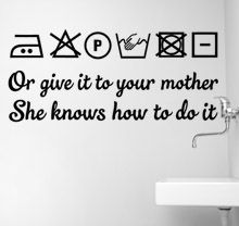 SCRITTE IN INGLESE Laundry, Your mother small