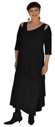 Sympli focus tunic with prism skirt