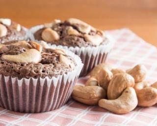 Mini cakes minceur au chocolat et aux noix de cajou
