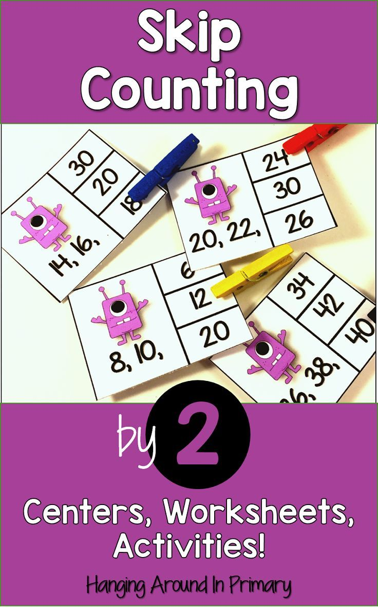 Teach skip counting by 2s with low prep centers, activities and printables that your students will love to use.