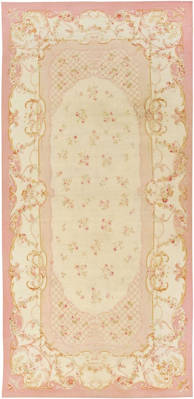 Antique Aubusson Carpets #43634  http://nazmiyalantiquerugs.com/antique-rugs/aubusson/