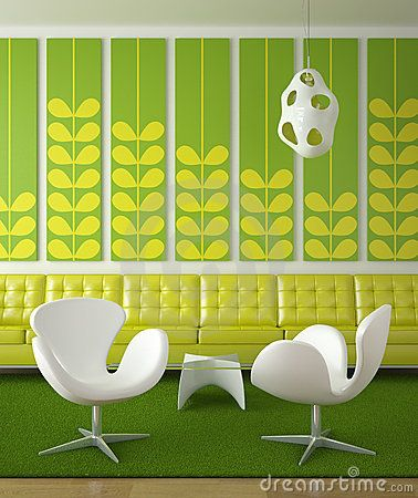 Retro Interior Design Green - Download From Over 56 Million High Quality Stock Photos, Images, Vectors. Sign up for FREE today. Image: 9919244