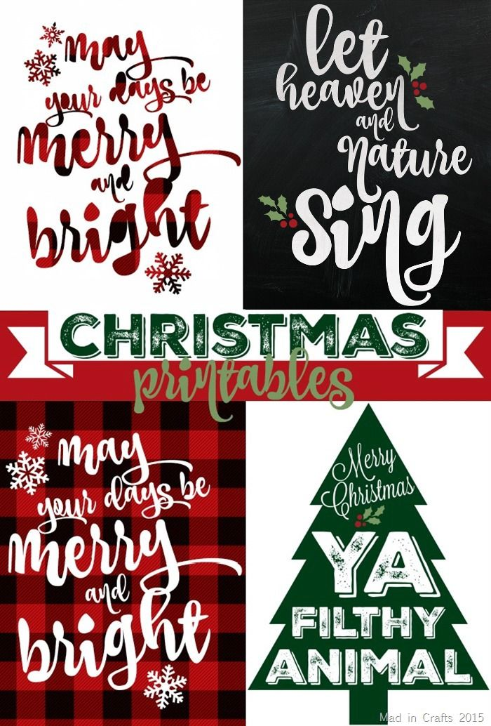 Free Christmas Printables..... took me a second to remember the 'ya filthy animal' was from Home Alone!