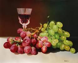 Image result for still life with glasses painting
