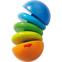 Drugą prezentowaną zabawką dla niemowląt jest wyprodukowana w Niemczech Haba 3852 - Drewniana Grzechotka Klick Klack dla niemowlaka już od 6 miesięcy. Zabawka wygina się na wszystkie strony.   Czy grzechotka klekocze? Sprawdźcie sami:)  Do jutra:)  #haba3852 #haba #grzechotka #gryzak #dlaniemowlat #klickklack