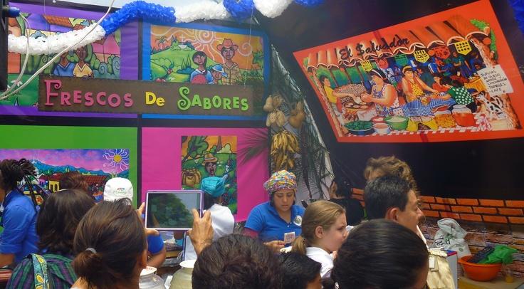 Colores y sabores de El Salvador, feria de las cuturas amigas 2013.