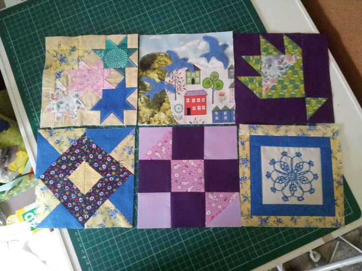 Some of the Blocks for the Splendid Sampler quilt along 2016 . I'm wayyy behind !