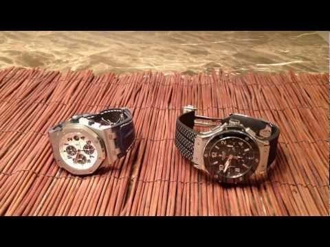 Audemars Piguet ROO vs Hublot Watch BB Review (Royal Oak Offshore Navy vs Big Bang Steel Ceramic)