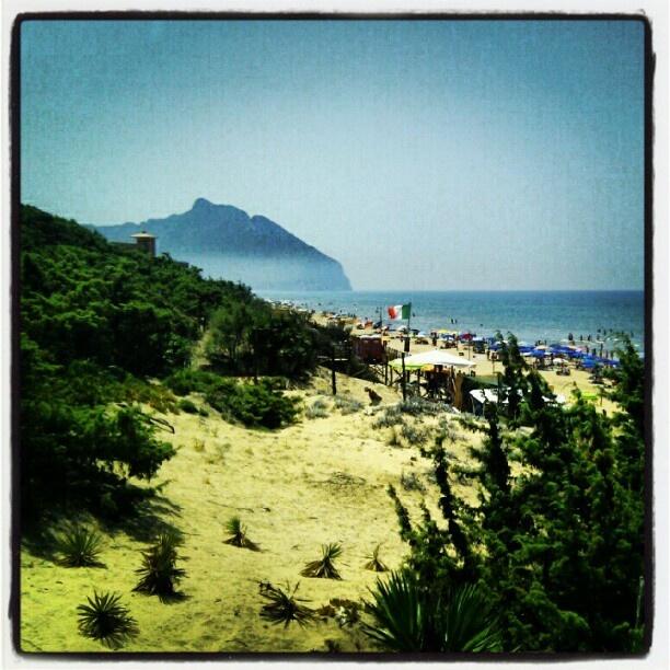 Sabaudia's beach